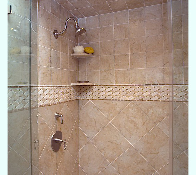 Ceramic or porcelain tile for bathroom
