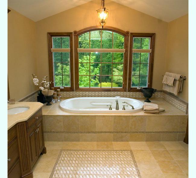 Crema marfil tile porcelain roselawnlutheran for Crema marfil bathroom ideas