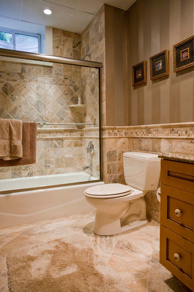 Bathroom Gallery Tiles : Natural stone tile bathroom fuda