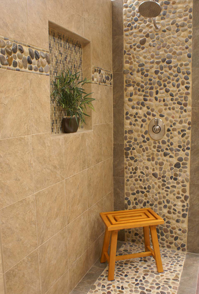 River Rock Pebbles Fuda Tile