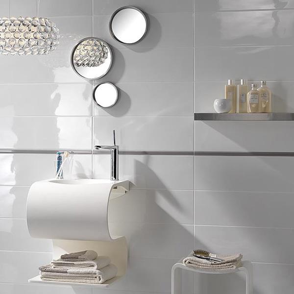 Fuda Tile Stores – White Porcelain Tile Bathroom