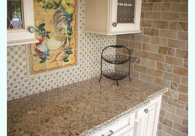 Venetian Gold Granite Countertop With Single Ogee Edge G018