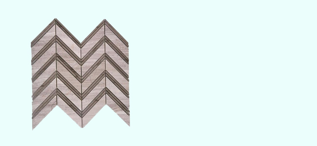 Chevron Wooden Beige with Athens Gray