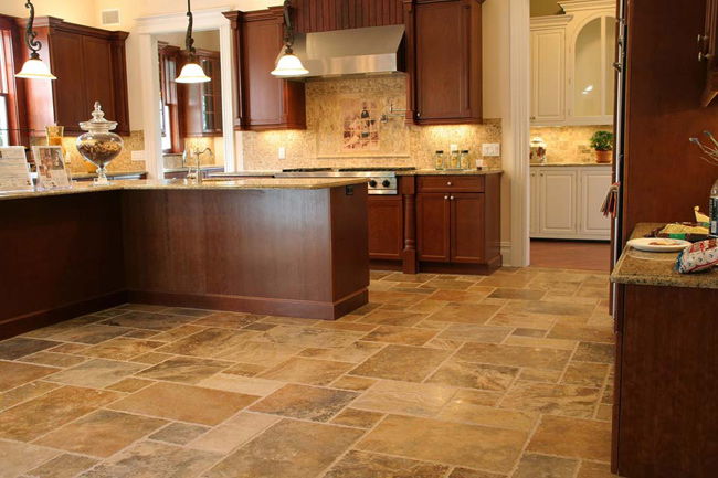 Scabos French Pattern Travertine Fuda Tile