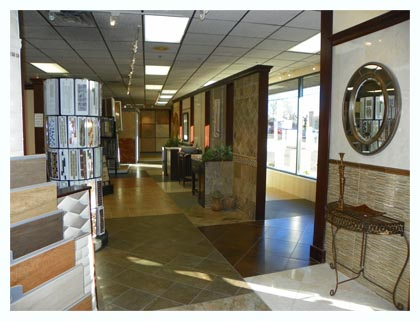 Long view inside Fuda Elmwood Park NJ Tile Store