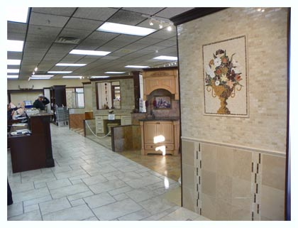 View inside Fuda Tile Elmwood Park Store