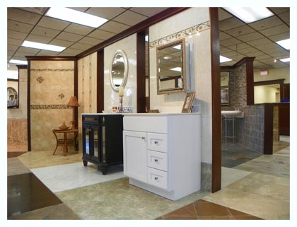Samples of Tile and Vanities in Fuda Elmwood Park Store