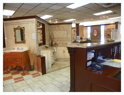 View inside Fuda Elmwood Park NJ Tile showroom