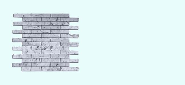 Natural stone tile bathroom fuda tile - White Carrera Marble Series 3 4x4 Brick Fuda Tile